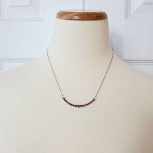 Paparazzi Curved Pink Rhinestone Necklace